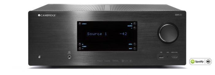 CXR120 CX R 120 CX-R120 Sintoamplificatore streamer audiovideo Cambridge Audio CX-R 120 MODULO FM DAB FM/DAB+ alimentazione FM TUNER PREAMPLI PREAMPLIFICATORE STEREO STADIO PHONO MULTIMEDIA WIRELESS SPEAKER CANALE CENTRALE LETTORE CD COMPACT DISC SINTONIZZATORE SINTOAMPLI SINTOAMPLIFICATORE AMPLIFICATORE INTEGRATO INTEGRATED AMPLIFIER COPPIA DIFFUSORE ACUSTICO DIFFUSORI ACUSTICI CASSA ACUSTICA CASSE ACUSTICHE AUDIO/VIDEO OFFERTA PROMOZIONE SCONTO SCONTATO OCCASIONE OUTLET DOLFI HI-FI FIRENZE HI FI FIDELITY HIGH END TOSCANA ITALIA sintoamplificatore 120 W / c - 7 IN HDMI e 2 OUT con supporto 3D/4K/ARC - Grande trasformatore toroidale a bassa dispersione e amplificatori discreti a basso rumore e distorsione - Riproduzione musicale gapless da rete di più CODEC compreso 192 Khz 24 bit e 20.000 radio internet - Supporto di NEW Spotify Connect - Doppia uscita HDMI per due display - 7.1 con Surround back oppure 5.1 con canali Height - Ingresso HDMI compatibile MHL per la connessione di dispositivi portatili - Doppia uscita subwoofer per configurazione 7.2 - Controllo RS 232, ingressi e uscite IR, uscite trigger - Supporto per ricevitore opzionale Bluetooth BT100