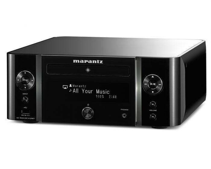 Sistema audio integrato wireless Marantz serie MELODY MUSIC STREAM M-CR611 MCR611 MCR 611 AMPLIFICATORE FINALE DI POTENZA STEREO MONO Proiettore sonoro digitale di rete LOUDSPEAKER MULTIMEDIA & STREAMING WIFI WI-FI WI FI WIRELESS SPEAKER streamer audiovideo Audio MODULO FM DAB FM/DAB+ alimentazione FM TUNER PREAMPLI PREAMPLIFICATORE STEREO STADIO PHONO MULTIMEDIA WIRELESS SPEAKERS PROEITTORE SONORO CANALE CENTRALE LETTORE CD COMPACT DISC SINTONIZZATORE SINTOAMPLI SINTOAMPLIFICATORE AV A/V AUDIO VIDEO AMPLIFICATORE INTEGRATO sistema audio integrato INTEGRATED AMPLIFIER COPPIA DIFFUSORE ACUSTICO DIFFUSORI ACUSTICI CASSA ACUSTICA CASSE ACUSTICHE AUDIO/VIDEO RIBASSI OFFERTA PROMOZIONE SCONTO SCONTATO OCCASIONE OUTLET DOLFI HI-FI FIRENZE HI FI FIDELITY HIGH END TOSCANA ITALIA Sintoamplificatore di rere compatto, prestazioni Audio Hi-Fi Marantz, 60W x 2ch, Bi-amping (30W x 4ch), Diffusori A/B (da telecomando) con controllo di volume individuale, Compatibilità con diffusori acustici a 4ohm; Streaming e altre sorgenti: Riproduzione CD, WMA/MP3(CD-R/RW), FM & DAB/DAB+, Bluetooth con NFC, AirPlay, Spotify Connect e InternetRadio,StreamingdifilemusicalidaComputer/NAS(DLNA1.5),Gaplessplayback (W AV/FLAC/AIFF/ALAC) W AV/FLAC/AIFF 192kHz/24bit, ALAC, DSD 2.8MHz, 2x ingressi USB per iDevice e memorie USB stick (frontale e posteriore), 2 ingressi digitali ottici per TV o altri dispositivi digitali; coperchio acrilico con finitura antigraffio, pannello frontale con illuminazione colorata, Modulo di rete Wi-Fi con antenna integrata, pre out analogico (fisso o variabile), Subwoofer pre-out, grande display OLED a 3 linee per una chiara visione, Ricarica di iPhone/iPod in modalità standby, Controllabile con la nuova Marantz Hi-Fi Remote App