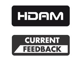 Marantz_HDAM Grazie all'utilizzo della tecnologia Marantz HDAM (Hyper Dynamic Amplifier Module - Modulo di Amplificazione Iper Dinamico) derivata dai prodotti della Serie Reference, SR5012 integra numerosi moduli HDAM che forniscono prestazioni superiori a basso rumore e a larga banda in una configurazione circuitale totalmente discreta, rispetto ai tradizionali circuiti integrati operazionali di amplificazione. La tecnologia HDAM fornisce una velocità di risposta ultra-rapida per una reale risposta a banda larga e la massima gamma dinamica per offrire la migliore qualità del suono con i formati audio ad alta risoluzione di oggi. Oltre alla tecnologia HDAM, SR5012 utilizza anche la configurazione Current Feedback (retroazione di corrente) al posto di una tipica configurazione a retroazione di tensione. Un'innovazione che Marantz introdusse ben 60 anni fa nei nostri primi amplificatori audiophile, la tecnologia Current Feedback fornisce un'ampia larghezza di banda e una velocità di risposta molto elevata, consentendo di ottenere una fedeltà di grado superiore con le sorgenti audio a larga banda.