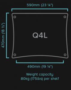 Q4-Large-HiFi-Rack-QUADRASPIRE Q4-EVO-Shelf-Specifications Dolfihifi dolfi hifi hi-end sconti professionalità servizio offerta speciale pagamento rateale ritiro usato dolfi hifi viale rosselli firenze