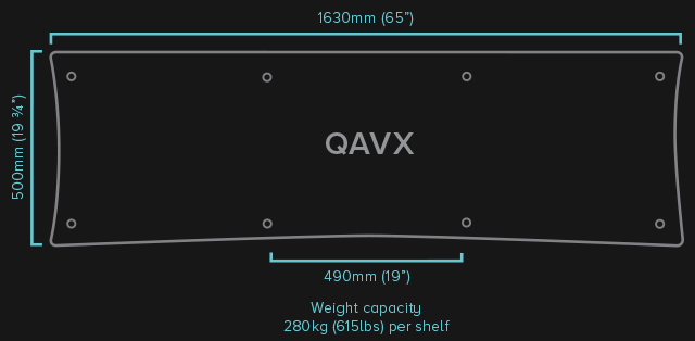 QAVX-HiFi-Rack-Specifications-QAVx-HiFi-Rack-Specifications-QAVx-HiFi-Rack quadraspire qavx audiovideo dolfi hifi dolfihifi sconto offerta firenze