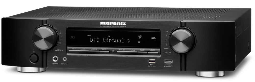 SINTOAMPLIFICATORI MARANTZ NR1609 AMPLIFICATORE FINALE DI POTENZA STEREO MONO Proiettore sonoro digitale di rete LOUDSPEAKER MULTIMEDIA & STREAMING WIFI WI-FI WI FI WIRELESS SPEAKER streamer audiovideo Audio MODULO FM DAB FM/DAB+ alimentazione FM TUNER PREAMPLI PREAMPLIFICATORE STEREO STADIO PHONO MULTIMEDIA WIRELESS SPEAKERS PROEITTORE SONORO CANALE CENTRALE LETTORE CD COMPACT DISC SINTONIZZATORE SINTOAMPLI SINTOAMPLIFICATORE AV A/V AUDIO VIDEO AMPLIFICATORE INTEGRATO sistema audio integrato INTEGRATED AMPLIFIER COPPIA DIFFUSORE ACUSTICO DIFFUSORI ACUSTICI CASSA ACUSTICA CASSE ACUSTICHE AUDIO/VIDEO RIBASSI OFFERTA PROMOZIONE SCONTO SCONTATO OCCASIONE OUTLET DOLFI HI-FI FIRENZE HI FI FIDELITY HIGH END TOSCANA ITALIA Telaio di altezza ridotta, 7x 90 Watt (6 ohm, 1%), WiFi, Bluetooth, Dolby TrueHD, DTS HD Dolby Atmos (5.1.2), DTS:X, Audyssey MultEQ, HDMI 2.0 (4k full rate), 7+1in / 1out HDMI (3D / ARC), HDCP 2.2, Video pass through, GUI sovraimpressa, scaling fino a 4k (half rate), Conversione da analogica a HDMI, Streaming di rete per audio e foto, Riproduzione di file Apple lossless, Gapless, FLAC HD 192/24, DSD, AIFF; ALAC, AirPlay, Spotify Connect, Internet radio, S/G Ingresso USB compatibile iPod/iPhone, M-DAX2, Multi room/Multi sorgente, RC, Smart Select, Modalità ECO