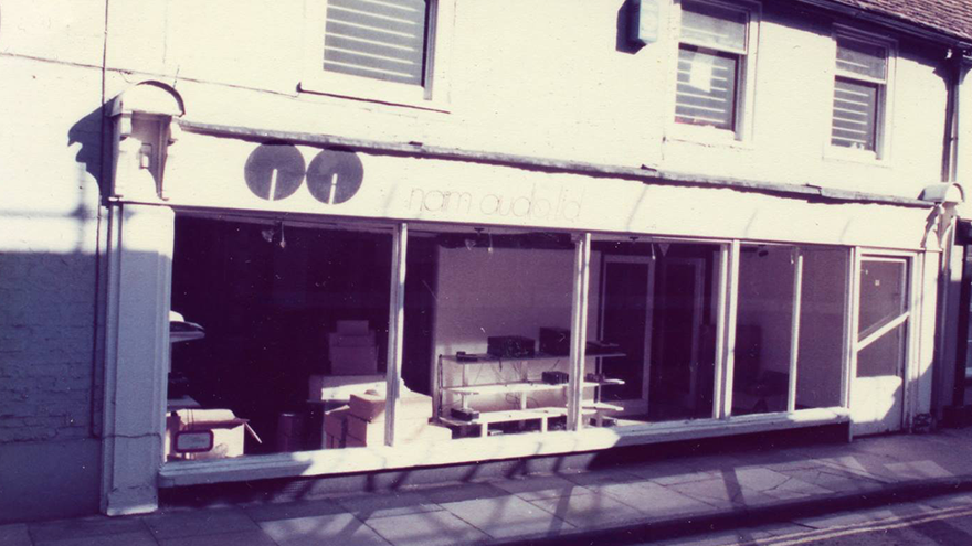 1973 Naim Audio primo negozio